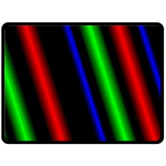 Multi Color Neon Background Double Sided Fleece Blanket (large)  by Simbadda