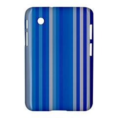 Color Stripes Blue White Pattern Samsung Galaxy Tab 2 (7 ) P3100 Hardshell Case