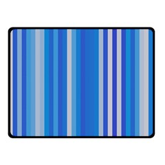 Color Stripes Blue White Pattern Double Sided Fleece Blanket (Small)