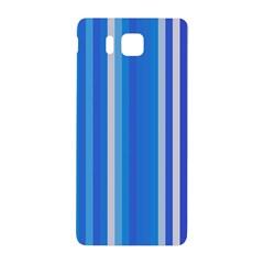 Color Stripes Blue White Pattern Samsung Galaxy Alpha Hardshell Back Case by Simbadda
