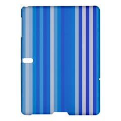 Color Stripes Blue White Pattern Samsung Galaxy Tab S (10 5 ) Hardshell Case  by Simbadda