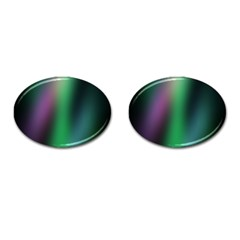 Course Gradient Color Pattern Cufflinks (oval) by Simbadda