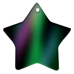 Course Gradient Color Pattern Star Ornament (two Sides) by Simbadda