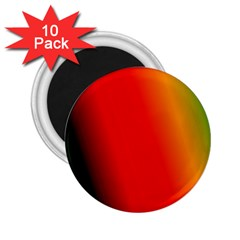 Multi Color Pattern Background 2 25  Magnets (10 Pack)  by Simbadda