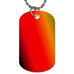 Multi Color Pattern Background Dog Tag (two Sides) by Simbadda