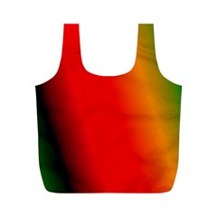 Multi Color Pattern Background Full Print Recycle Bags (m)