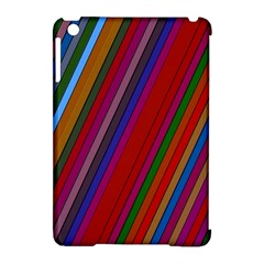 Color Stripes Pattern Apple Ipad Mini Hardshell Case (compatible With Smart Cover) by Simbadda