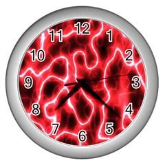 Pattern Background Abstract Wall Clocks (silver)  by Simbadda