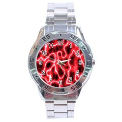 Pattern Background Abstract Stainless Steel Analogue Watch