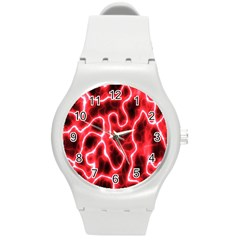 Pattern Background Abstract Round Plastic Sport Watch (m) by Simbadda