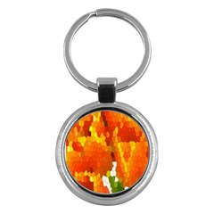 Mosaic Glass Colorful Color Key Chains (round)  by Simbadda