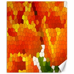 Mosaic Glass Colorful Color Canvas 20  X 24   by Simbadda