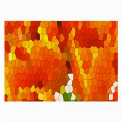 Mosaic Glass Colorful Color Large Glasses Cloth (2 Side) by Simbadda