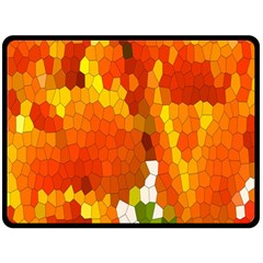 Mosaic Glass Colorful Color Fleece Blanket (large)  by Simbadda