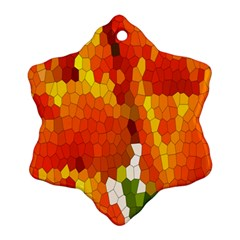 Mosaic Glass Colorful Color Snowflake Ornament (two Sides) by Simbadda