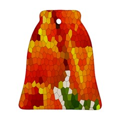 Mosaic Glass Colorful Color Bell Ornament (two Sides) by Simbadda
