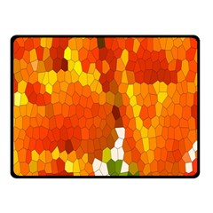 Mosaic Glass Colorful Color Double Sided Fleece Blanket (small)  by Simbadda