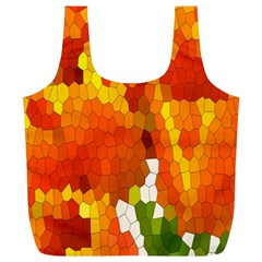 Mosaic Glass Colorful Color Full Print Recycle Bags (l)  by Simbadda