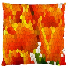 Mosaic Glass Colorful Color Standard Flano Cushion Case (one Side) by Simbadda