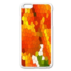 Mosaic Glass Colorful Color Apple Iphone 6 Plus/6s Plus Enamel White Case by Simbadda