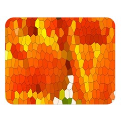 Mosaic Glass Colorful Color Double Sided Flano Blanket (large)  by Simbadda