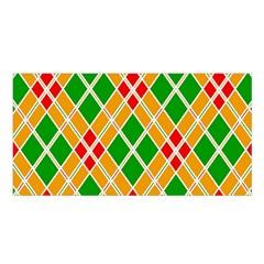 Colorful Color Pattern Diamonds Satin Shawl by Simbadda
