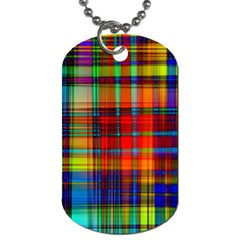 Abstract Color Background Form Dog Tag (two Sides) by Simbadda