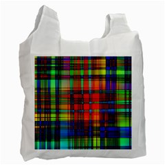 Abstract Color Background Form Recycle Bag (two Side)  by Simbadda