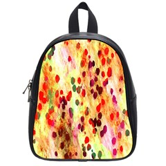 Background Color Pattern Abstract School Bags (small)  by Simbadda