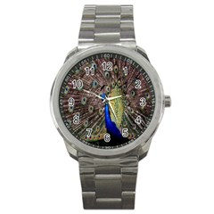 Multi Colored Peacock Sport Metal Watch by Simbadda