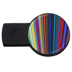 Multi Colored Lines Usb Flash Drive Round (2 Gb) by Simbadda