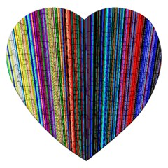 Multi Colored Lines Jigsaw Puzzle (heart) by Simbadda