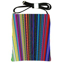 Multi Colored Lines Shoulder Sling Bags by Simbadda
