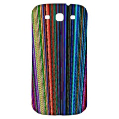 Multi Colored Lines Samsung Galaxy S3 S Iii Classic Hardshell Back Case by Simbadda