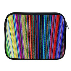 Multi Colored Lines Apple Ipad 2/3/4 Zipper Cases by Simbadda