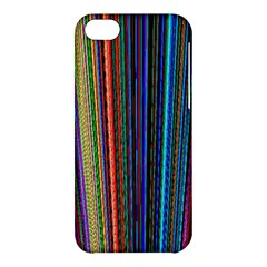 Multi Colored Lines Apple Iphone 5c Hardshell Case by Simbadda