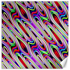 Multi Color Wave Abstract Pattern Canvas 12  X 12   by Simbadda