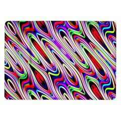 Multi Color Wave Abstract Pattern Samsung Galaxy Tab 10 1  P7500 Flip Case by Simbadda