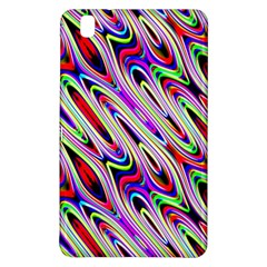 Multi Color Wave Abstract Pattern Samsung Galaxy Tab Pro 8 4 Hardshell Case by Simbadda