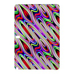 Multi Color Wave Abstract Pattern Samsung Galaxy Tab Pro 12 2 Hardshell Case by Simbadda