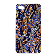 Pattern Color Design Texture Apple Iphone 4/4s Seamless Case (black) by Simbadda