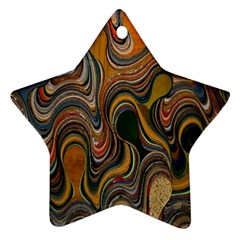 Swirl Colour Design Color Texture Ornament (star)