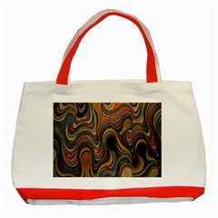 Swirl Colour Design Color Texture Classic Tote Bag (red) by Simbadda