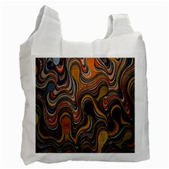 Swirl Colour Design Color Texture Recycle Bag (one Side) by Simbadda
