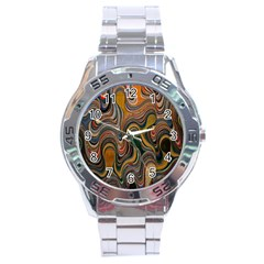 Swirl Colour Design Color Texture Stainless Steel Analogue Watch by Simbadda