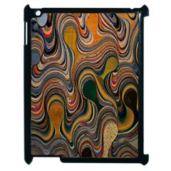 Swirl Colour Design Color Texture Apple Ipad 2 Case (black) by Simbadda