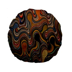 Swirl Colour Design Color Texture Standard 15  Premium Flano Round Cushions by Simbadda