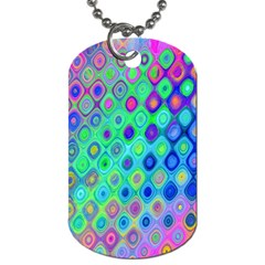 Background Texture Pattern Colorful Dog Tag (two Sides) by Simbadda
