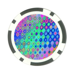 Background Texture Pattern Colorful Poker Chip Card Guard (10 Pack) by Simbadda