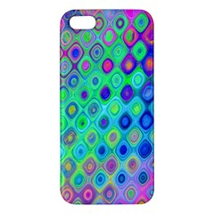 Background Texture Pattern Colorful Apple Iphone 5 Premium Hardshell Case by Simbadda